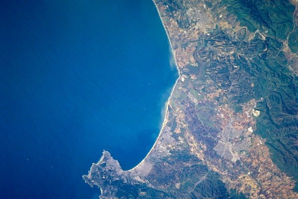 Aerial view of the Monterey Bay