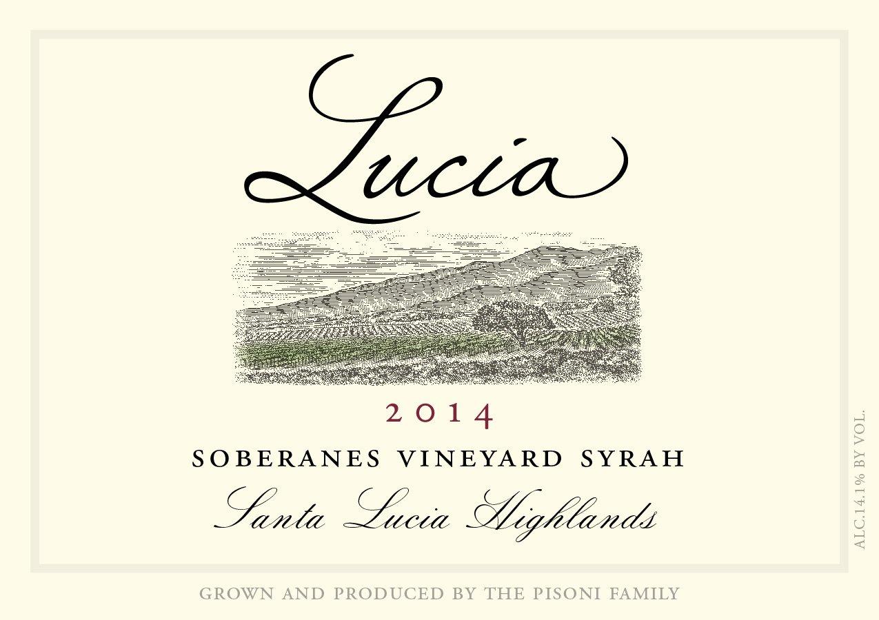 Lucia 2014 Soberanes Vineyard Syrah label