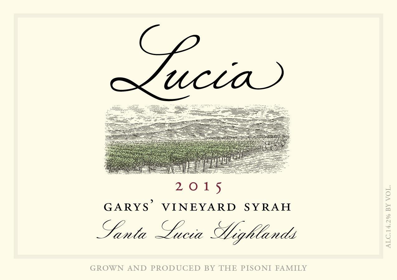 Lucia 2015 Garys' Vineyard Syrah label