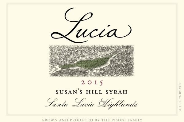Lucia 2015 Susan's Hill Syrah label