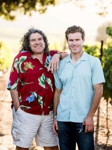Gary and Mark Pisoni at Pisoni Vineyards