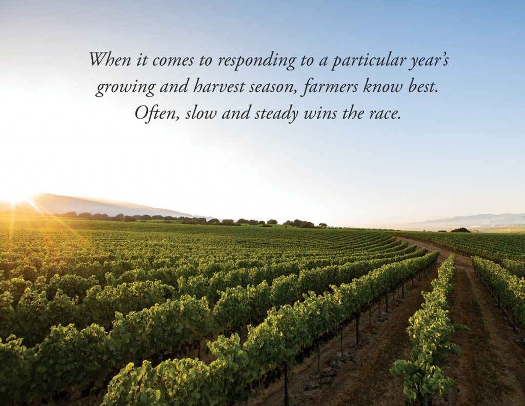 When it comes to responding to a particular year's growing and harvest season, farmers know best. Often, slow and steady wins the race.