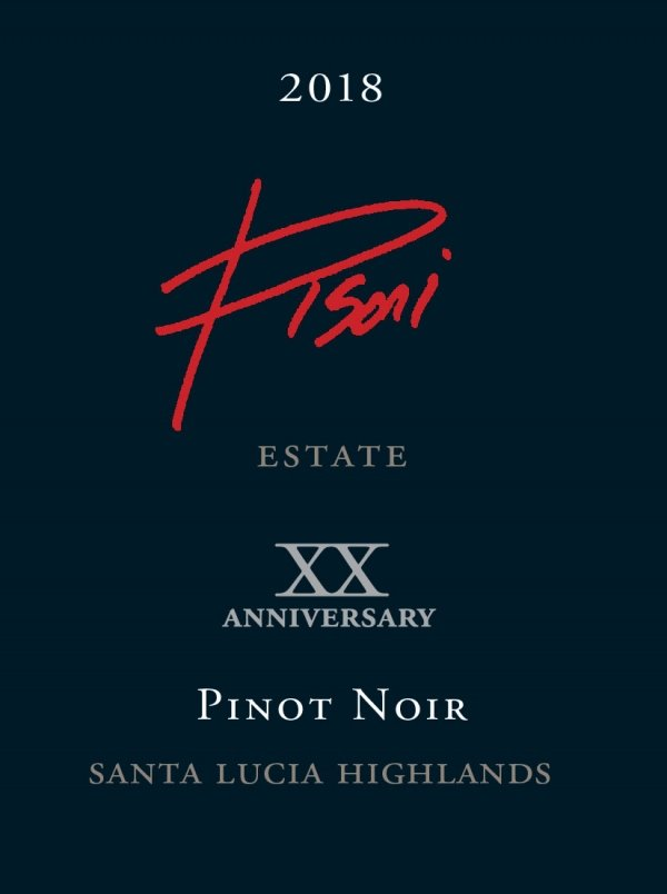 Pisoni Estate 2018 Pinot Noir label