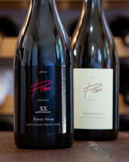 The 20th vintage of the Pisoni Estate Pinot Noir and Pisoni Estate Chardonnay.